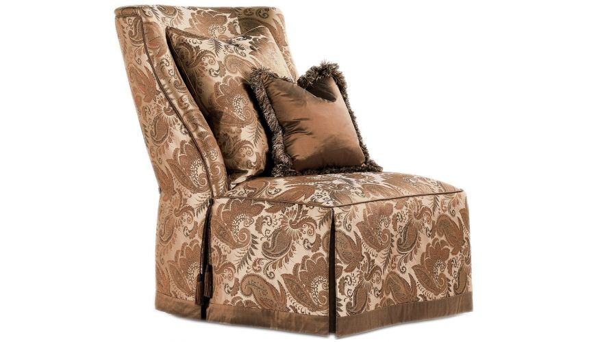 CHAIRS - Leather, Upholstered, Accent Paisley slipper chair