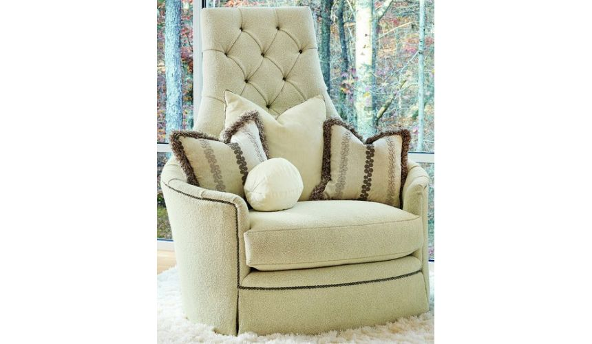 CHAIRS - Leather, Upholstered, Accent Super swivel chair