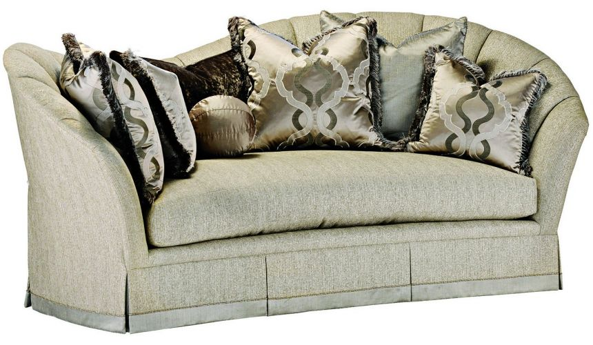 SOFA, COUCH & LOVESEAT Curved back sofa in a gorgeous slate grey fabric