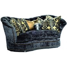 Indigo curved back sofa
