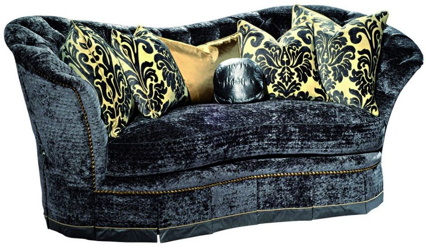 SOFA, COUCH & LOVESEAT Indigo curved back sofa
