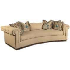 Contemporary style sofa with tufted detailing