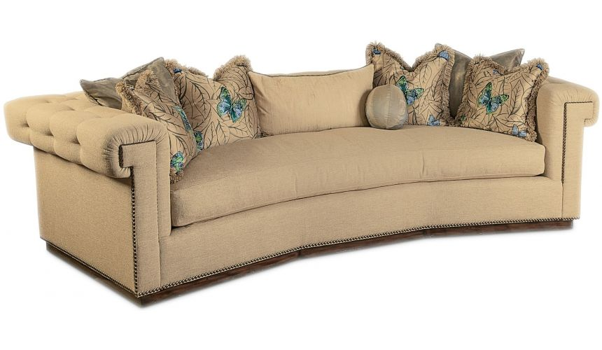 SOFA, COUCH & LOVESEAT Contemporary style sofa with tufted detailing