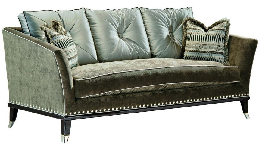 SOFA, COUCH & LOVESEAT Modern style sofa with contrasting tufted back cushions
