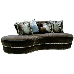 Unique rounded contemporary style sofa