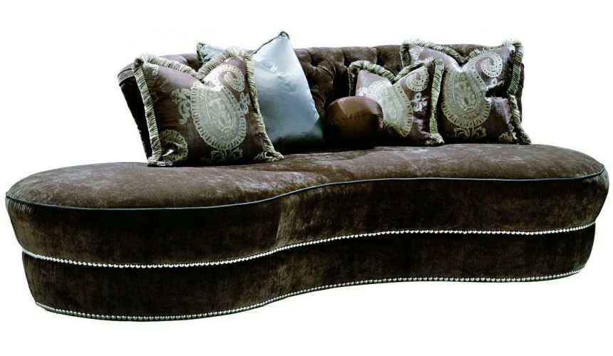 SOFA, COUCH & LOVESEAT Unique rounded contemporary style sofa