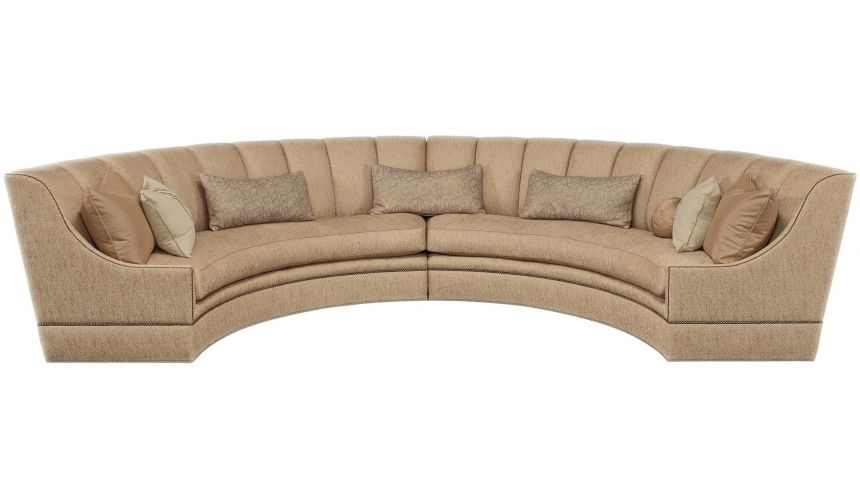 SECTIONALS - Leather & High End Upholstered Furniture Half round luxury sectional sofa