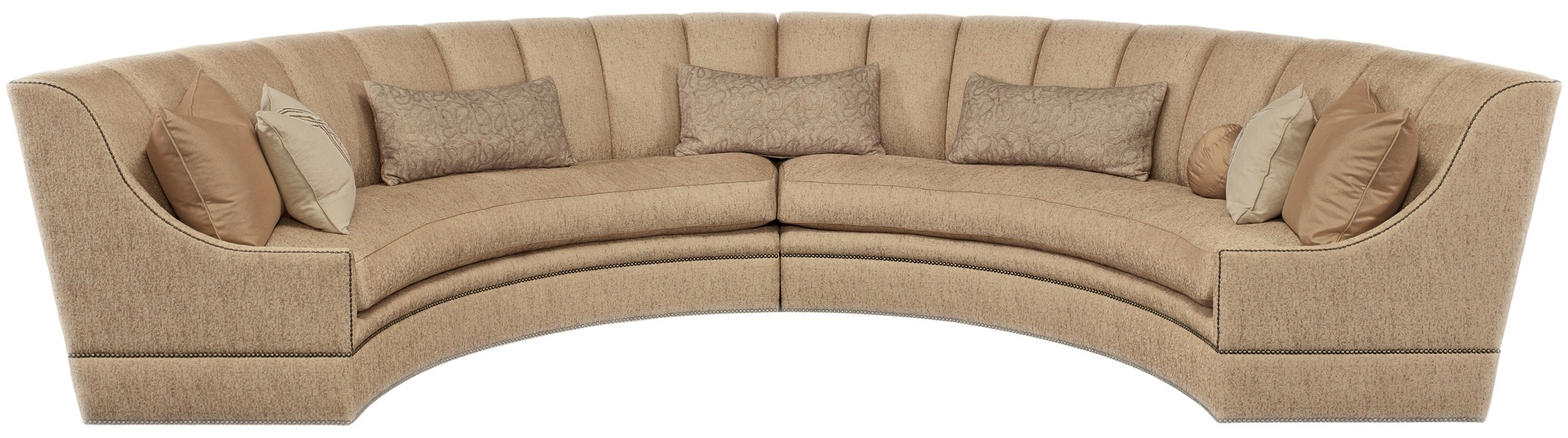 Terrific Half Round Luxury Sectional Sofa Gmtry Best Dining Table And Chair Ideas Images Gmtryco