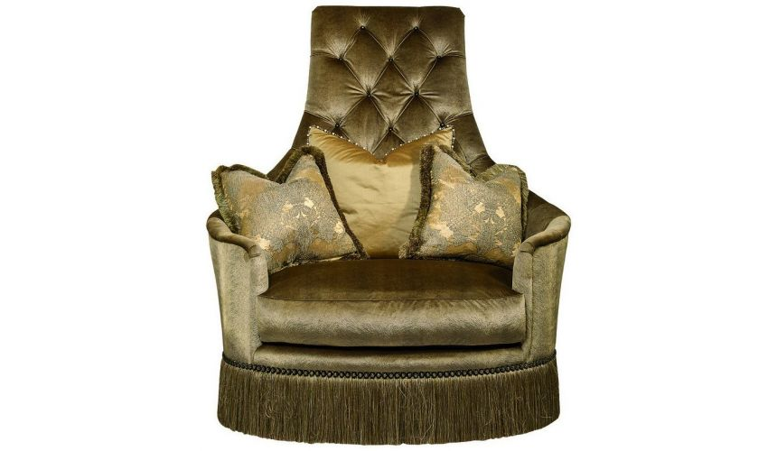 CHAIRS - Leather, Upholstered, Accent Sheik your mony swivel chair