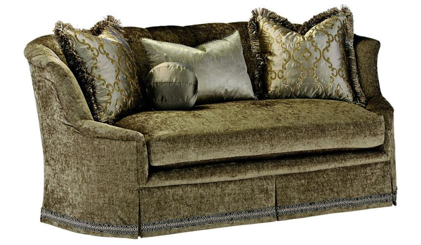 SOFA, COUCH & LOVESEAT Luxurious textured sofa with stunning trim details