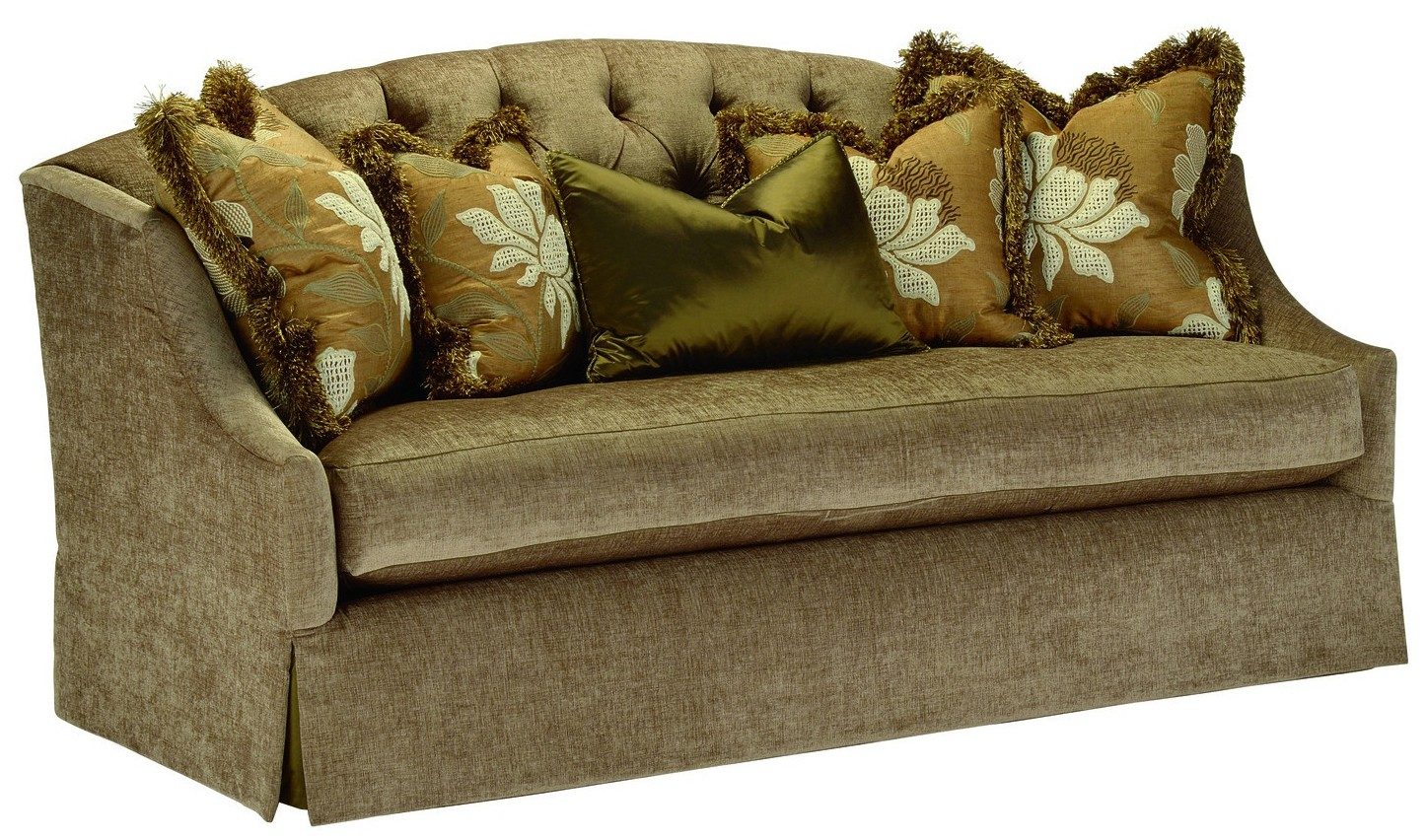 Retro Sofa With Tufted Back