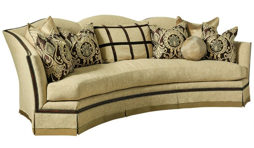 SOFA, COUCH & LOVESEAT Sofa with architectural details and contrasting trim