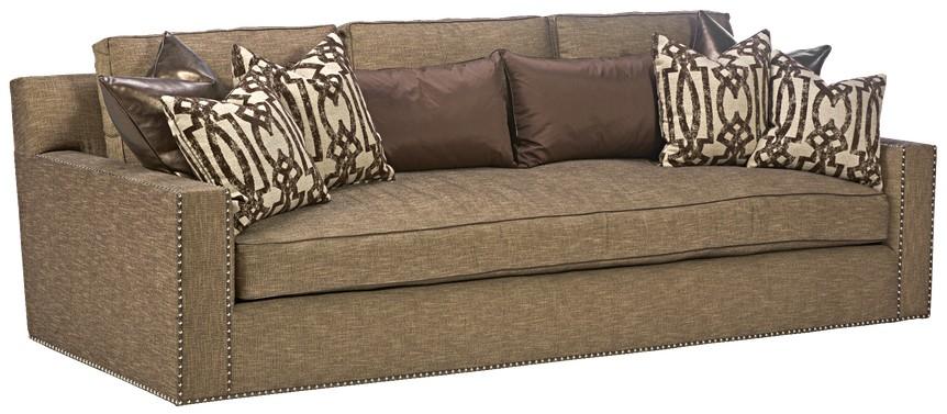 sofa couch u0026 loveseat sleek steal grey sofa with chic nailhead trim - Nailhead Sofa