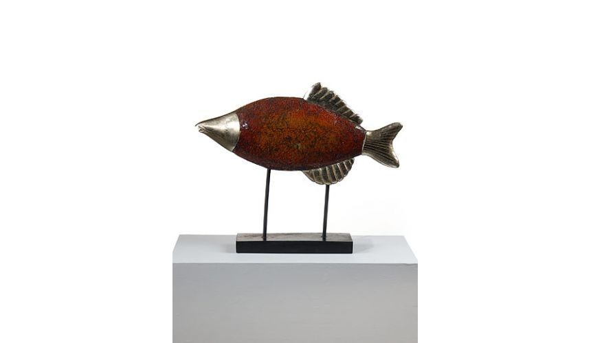 Decorative Accessories High Quality Accessories Furniture Inlaid Fish Mirror Glass Hand Made