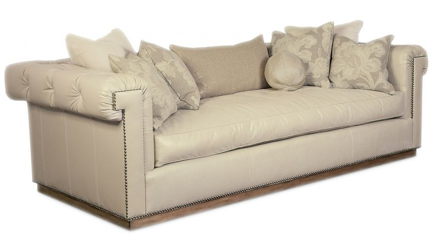 SOFA, COUCH & LOVESEAT Sofa with clean modern lines and beautiful architectural details