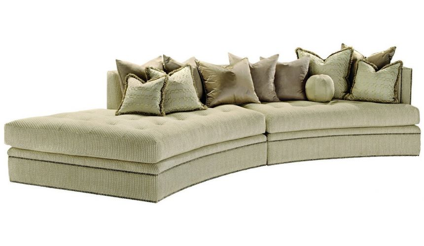 Luxury Leather & Upholstered Furniture Contemporary style sectional sofa