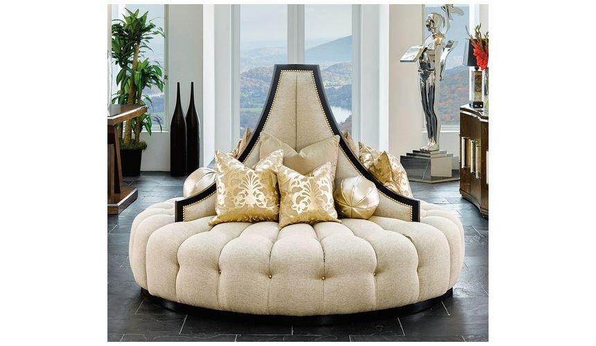 SOFA, COUCH & LOVESEAT Elegant art deco inspired round sofa