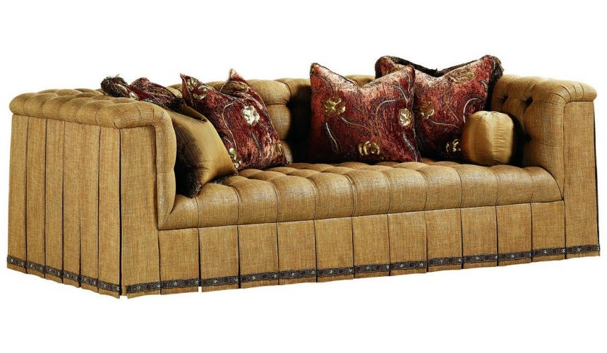 SOFA, COUCH & LOVESEAT Sofa with unique tufted seats and intricate pleats