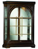 Beautiful glass front display cabinet with stunning wood detail