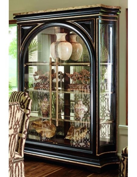 Breakfronts & China Cabinets Beautiful glass front display cabinet with stunning wood detail