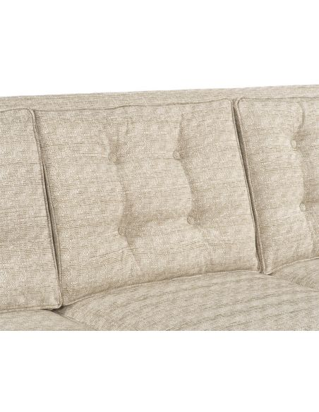 Luxury Leather & Upholstered Furniture Textured Three Cushion Coach