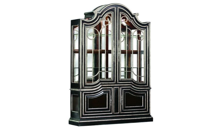 Breakfronts & China Cabinets Glass front china cabinet with art deco influence