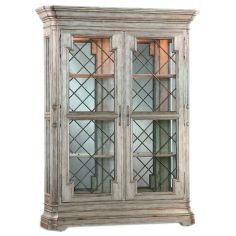 Double door armoire with rustic charm