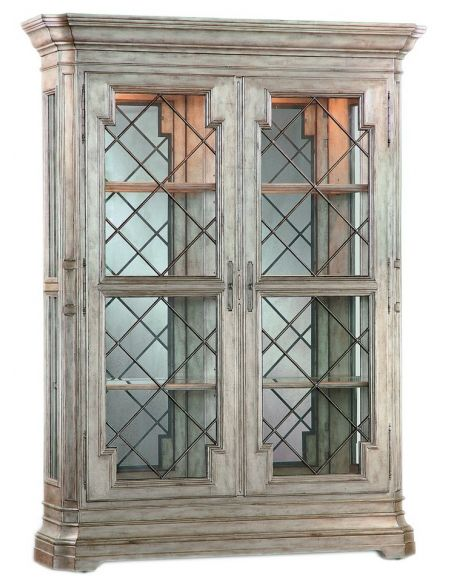 Breakfronts & China Cabinets Double door armoire with rustic charm