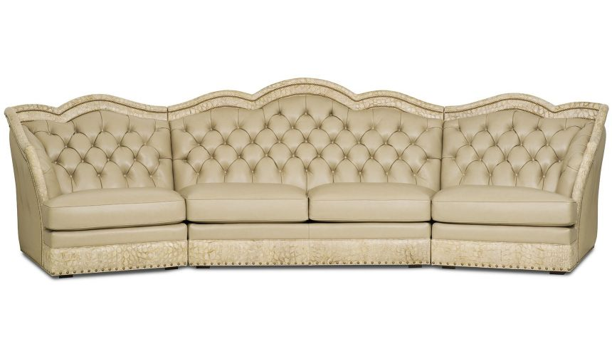 SECTIONALS - Leather & High End Upholstered Furniture Grand sectional sofa from our Lavish leathers collection