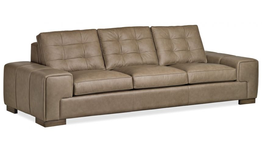Modern sofa in lux leather