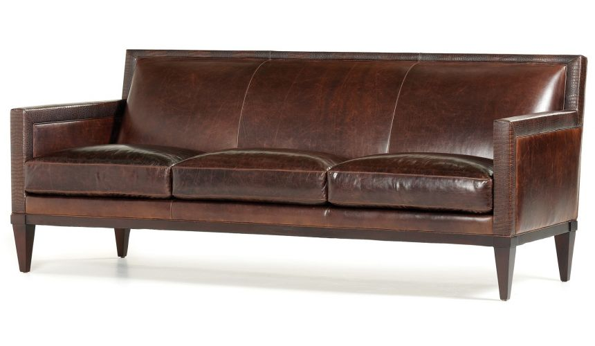 Chocolate leather sofa