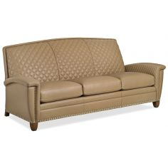 Contemporary quilted leather sofa