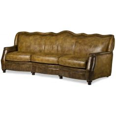 Embossed leather sofa