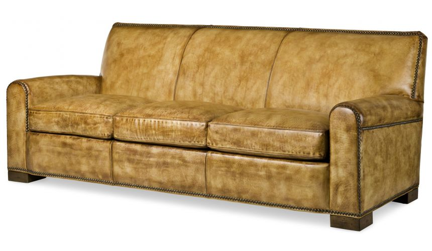 SOFA, COUCH & LOVESEAT Rugged leather sofa