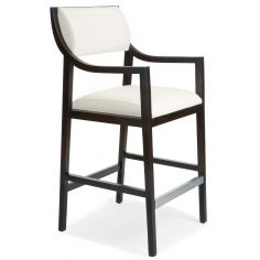 White leather barstool