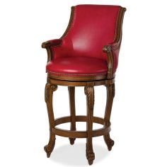 Ravishing red leather bar stool