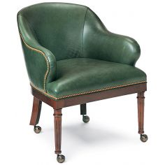 Forest green club chair