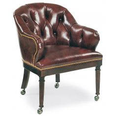 Chocolate leather club chair