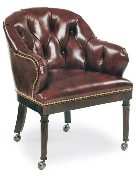 Office Chairs Chocolate leather club chair