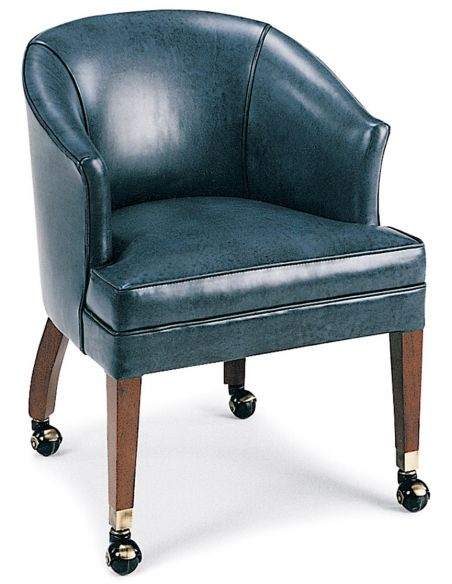 Office Chairs Blue leather club chair