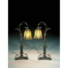 luxury furniture bronze Art Nouveau floral table lamp