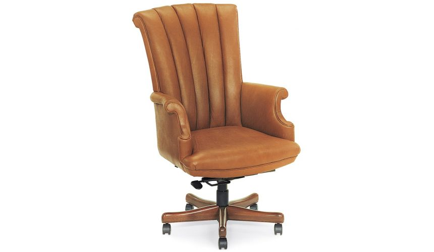 Office Chairs Caramel leather office chair