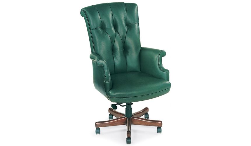 Office Chairs Green leather office chair