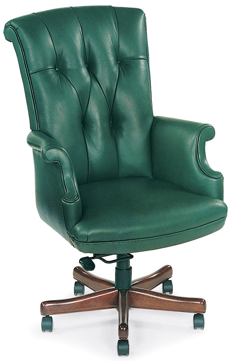 Office Chairs Green Leather Chair