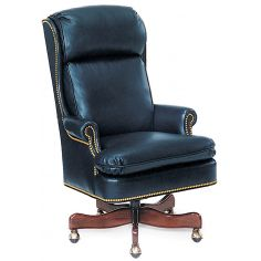 Leather wing backed office chair