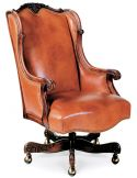Caramel leather office chair