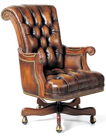 Office Chairs Classic leather office chair