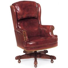 Cordovan leather office chair