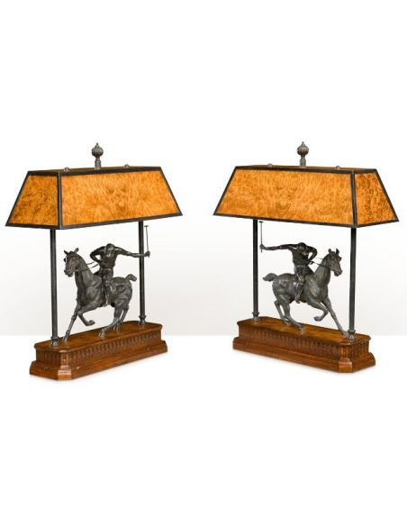 Table Lamps On The Polo Field