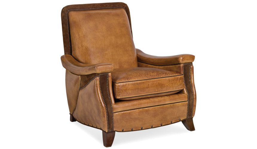 6278-1-TRI Saddle Arm Chair with Triple Cut Out Arm